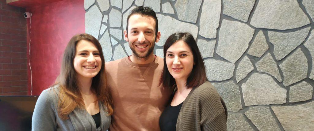Mario con Mary e Chiara